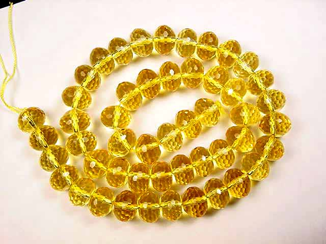 HF500 faceted roundel  citrine beads