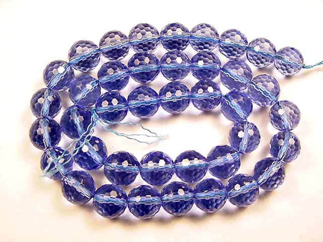 BF2810 Faceted blue quartz 10mm