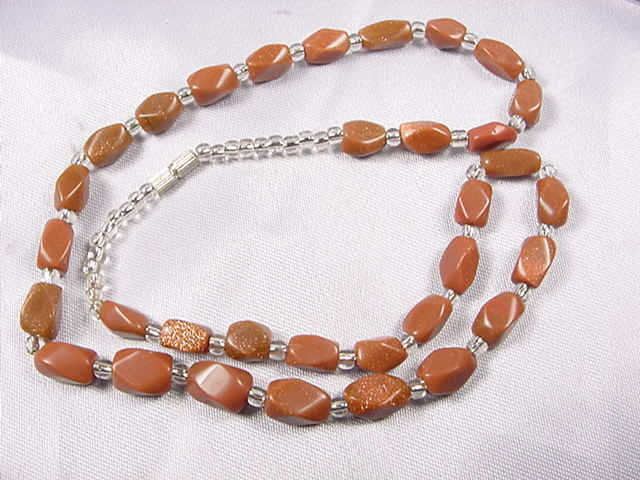 N025 Nature stone necklace
