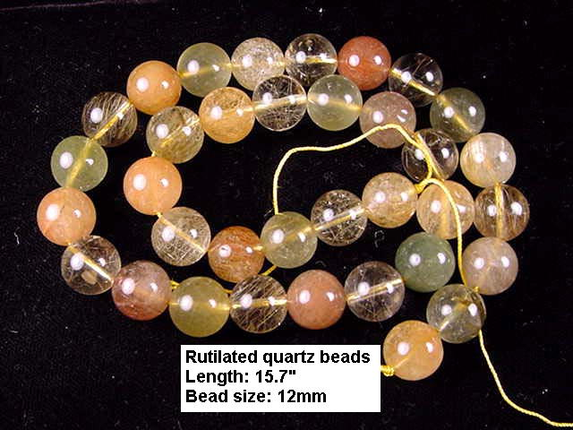 RT05 Rutilated quartz 12mm