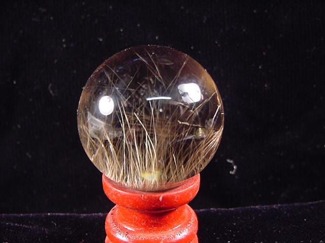 SP126 Rutilated quartz sphere